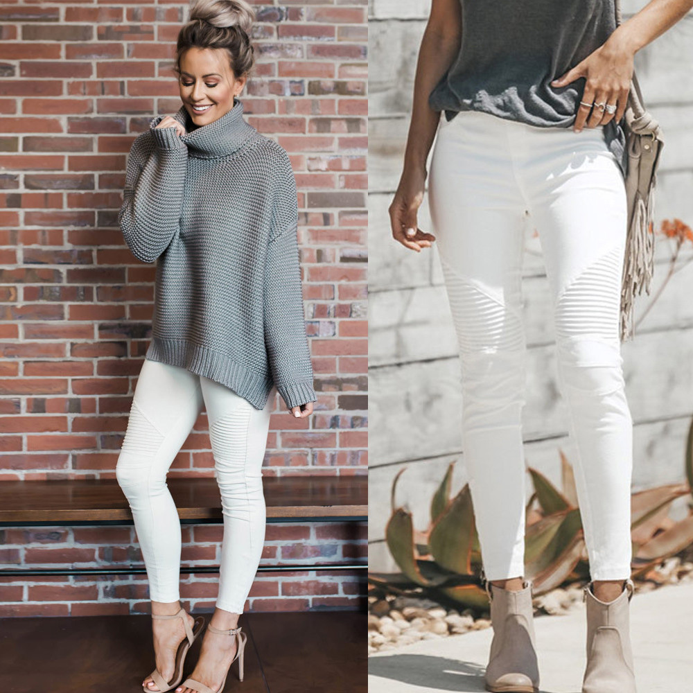 Women High Waist Stretch Hose   Jeans   soft and comfortable Leggings Skinny Slim Fitness Pants Trousers L50/0130