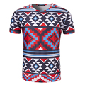 New Arrival Men National wind printed T-shirt Short Sleeve O Neck Male Brand Clothing Top Tees High Quality t shirt men