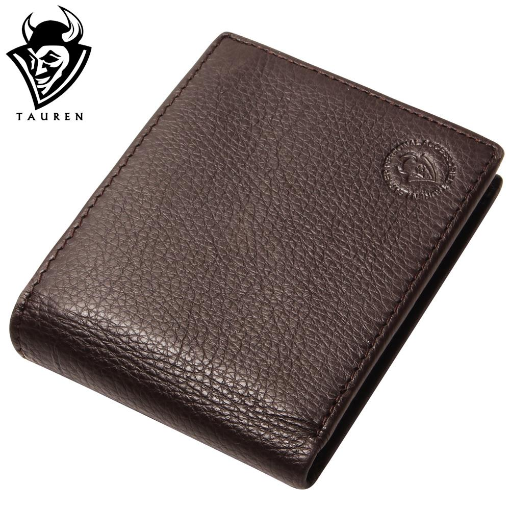 Excellent Genuine Cow Leather Coffee Wallet For Office Man Men's Vintage Wallets Coin Purse men wallet promotion excellent genuine cow leather black for office man men s vintage wallets