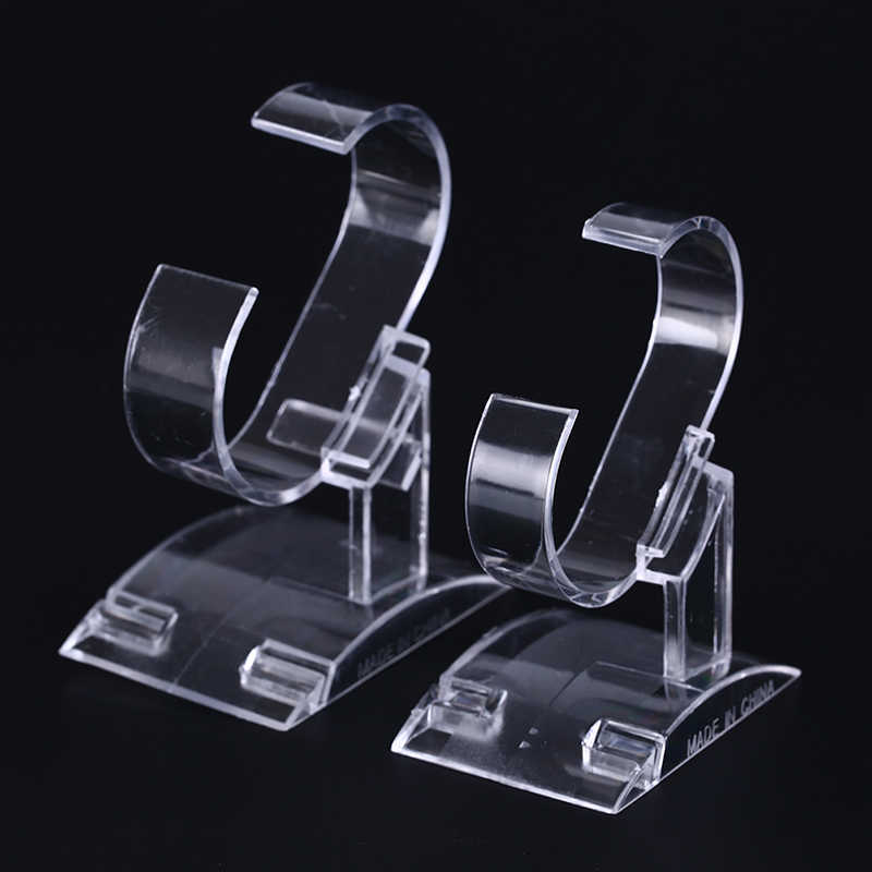 Clear Acrylic Watch Display Holder Stand Rack Tool Clear Plastic Wrist Watch Display Rack Holder Show Case Stand Tool