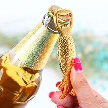 1 бутылка из ПК открывалка форма ананаса сплав инструмент Свадебная вечеринка подарок на день рождения сувениры барные инструменты кухонные аксессуары#065
