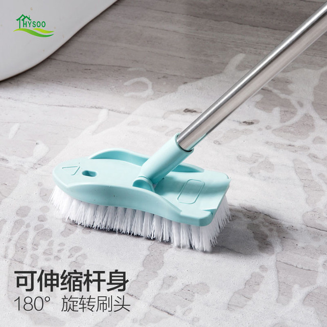 Retractable Long Handle Cleaning Brush Bristle Bathroom Floor Brush Bathroom  Bathtub Tile Brush