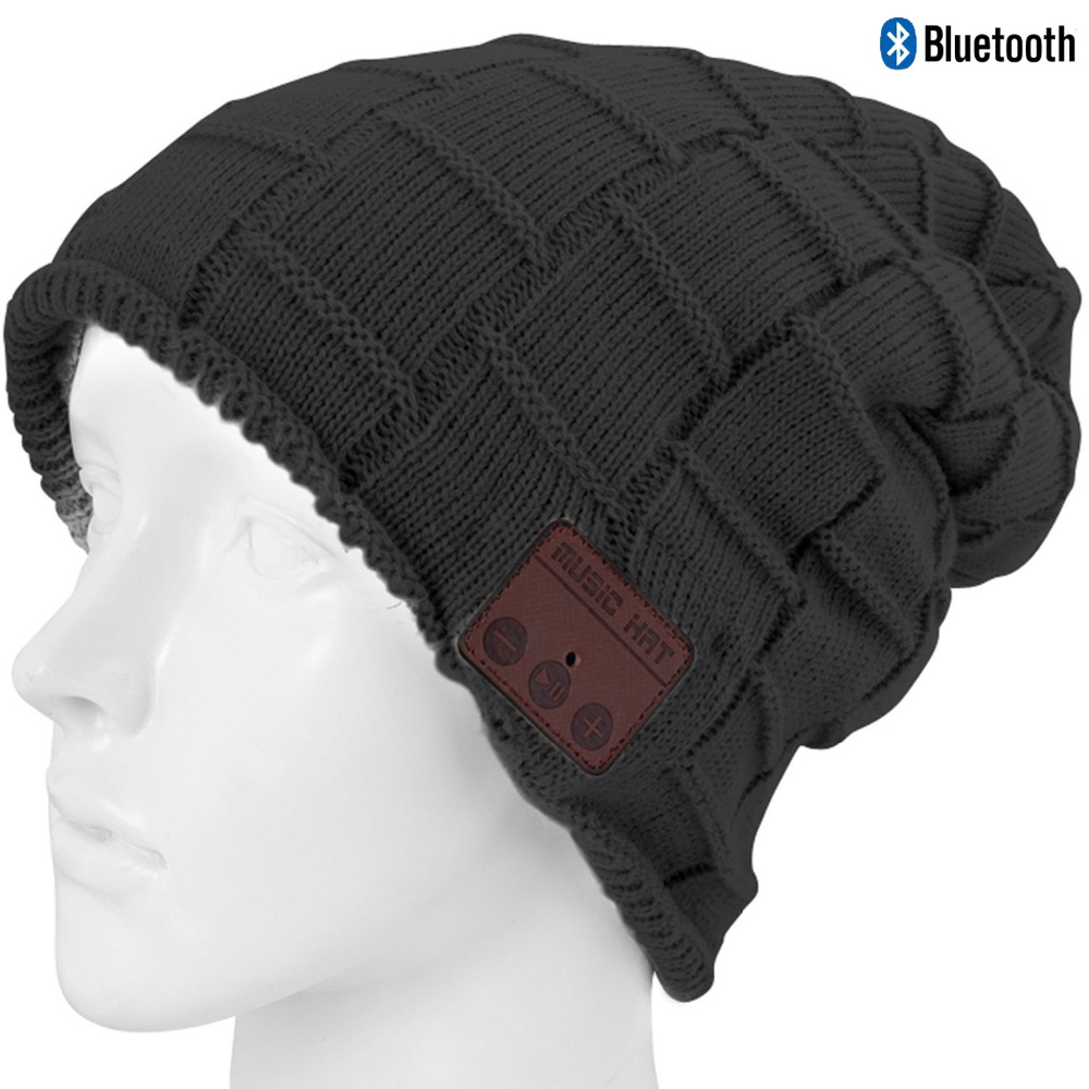 Bluetooth Beanie Hat Wireless Speaker Headset Headphones Earphones Mic Music Cap for Running Outdoor Sports Music Listening practical outdoor sports bluetooth headphones speaker mic winter warm knitted beanie hat
