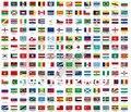 Promoção desconto de atacado bandeiras olímpicas Mundo mão nacional flags14 * 21 cm 100 pçs/lote