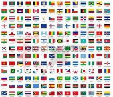 promotion wholesale discount olympic flags world national hand
