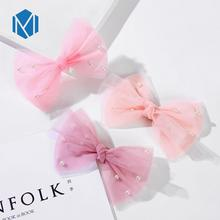 M MISM 2019 New Cute Lace Mash Big Bow Hair Clip For Girls Children Party Hairpins Barrettes Alligator Hairgrip Accessories