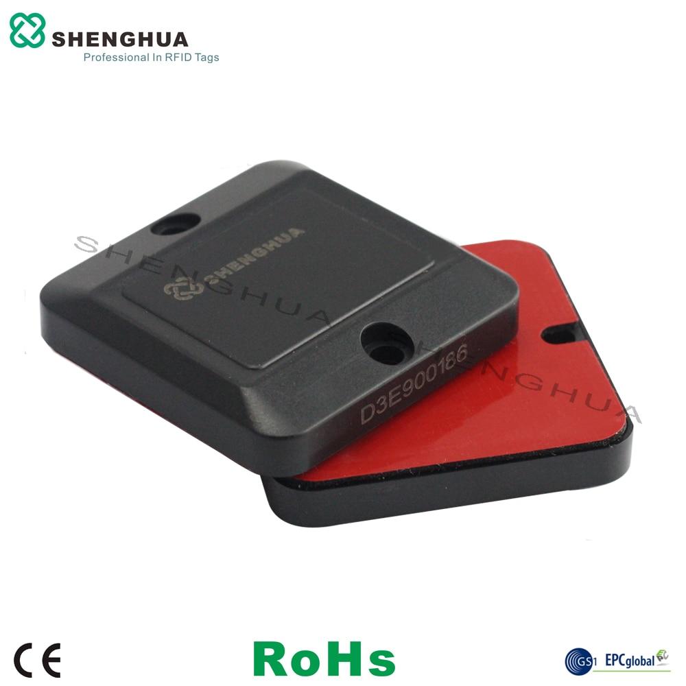 10pcs/pack Durable ABS RFID Anti Metal Sticker UHF Passive Smart RFID Label Waste Bin Tag Waterproof Long Range Reading On Metal