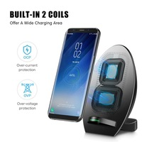 Qi Wireless Charger For Samsung Galaxy S8 Note8 Fast Charging Mobile Phone Charger For Iphone X