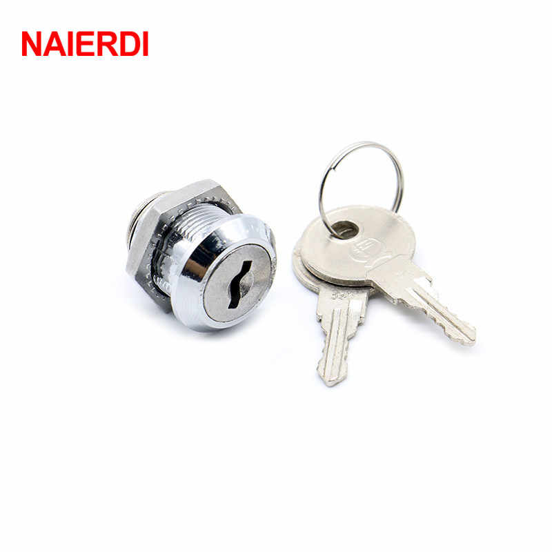 30PCS NAIERDI 103-16 Cam Cylinder Locks Door Cabinet Mailbox Drawer Cupboard Home Locks 16mm Length With Iron Keys Furniture