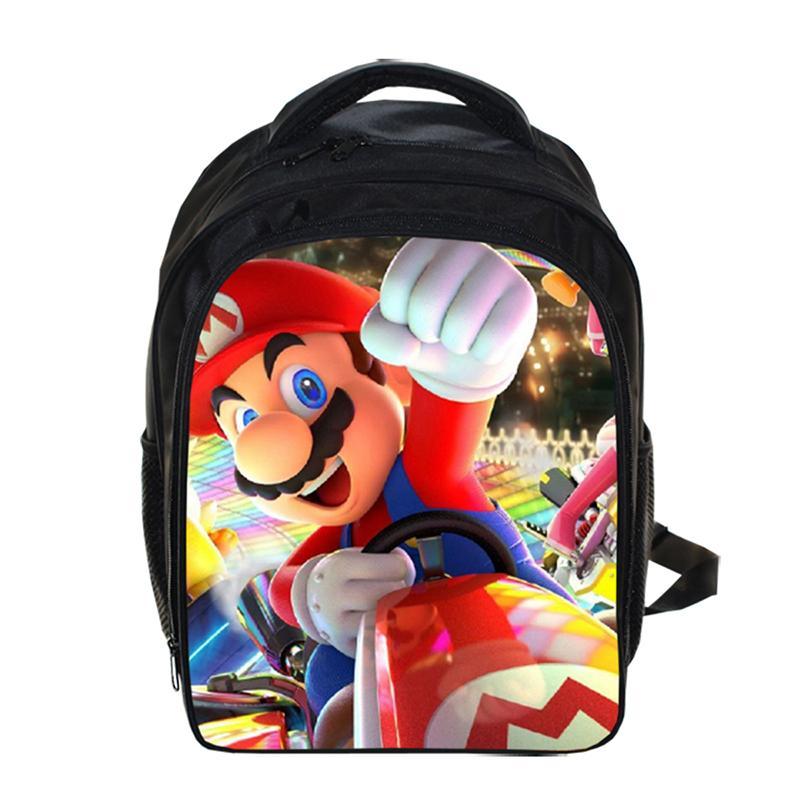 per la scuola ragazzi e ragazze libri grande zaino da viaggio borsa a tracolla 1 taglia unica Sonic The Hedgehog per adulti da uomo zaino per ragazzi con stampa 3D di Super Mario per laptop