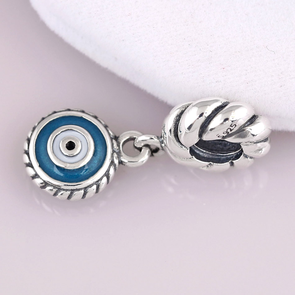 04babd3bf New 925 Sterling Silver Bead Charm Mix Enamel Watchful Eye Pendant Beads  Fit Pandora Bracelet Bangle Diy Jewelry-in Charms from Jewelry &  Accessories on ...