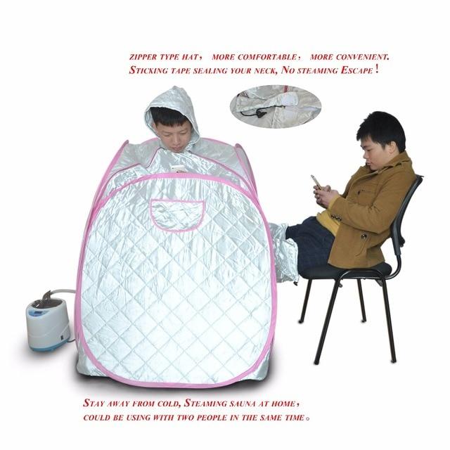 Паровая сауна домашняя сауна коробке 2 человек 3 комнаты ароматерапия, спа Паровая сауна-палатка пароход для похудения, детоксикации организма лечения бессонницы