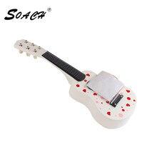 SOACH Telecasters ukulele animal floral motifs ukulele guitar factory direct wholesale 6 Strings bass acoustic  guitar