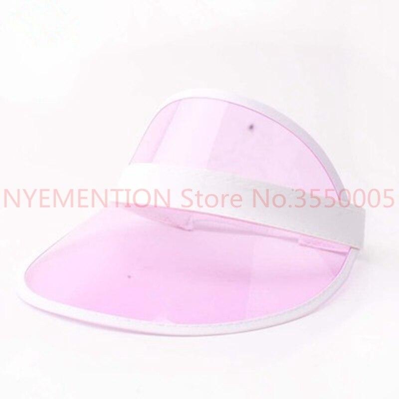 Summer holiday Neon rave sun shade retro party cap plastic visor sun hat rave festival fancy dress poker headband 20pcs
