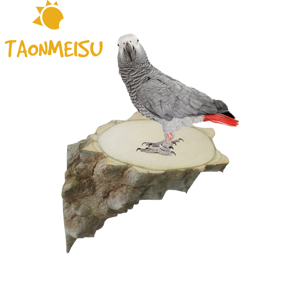 Bird Toys Parrot Stand Jumping Platform Board Chinchilla Squirrel Pepper Log Pier Right Angle Board Cage Accessories