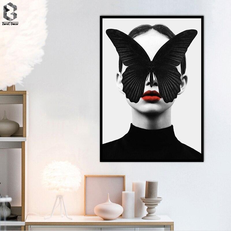 Skandinávská dekorace motýlů plakáty a tisky Obrazy na plátně Obrazy na plátně Obrazy na plakáty Obrazy do obývacího pokoje