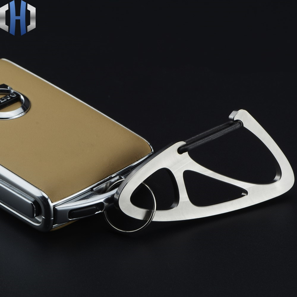Titanium Alloy Car Key Chain High end Men And Women Waist Hanging Personality Fashion Simple Anti lost Key Hanging in Crowbars from Tools
