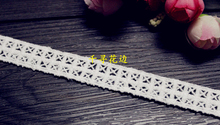 1110369 5 Yards 1 6cm Tartan Cross Eyelash Embroidery Lace Embroidered Water Soluble Cotton Cloth Lace
