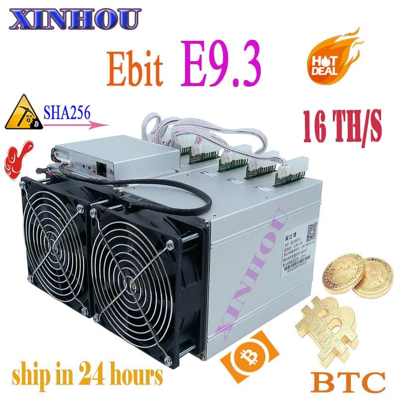 Asic Minatore Ebit E9.3 SHA256 16TH/s Bitcoin BTC BCH minatore minerario meglio di E9 + E9i Innosilicon T1 antminer s9 T9 R4 S9k S9SE M3