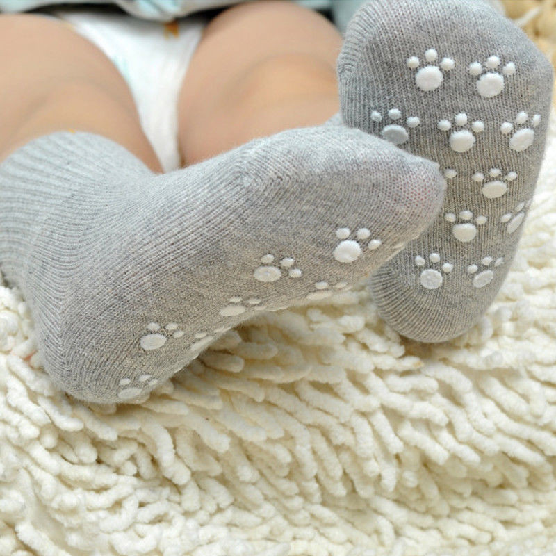 Candy Color Lovely Baby Boy Girls Solid Color Socks Infant Baby Non Slip Casual Socks For 0-6Y Boy Girls Cotton Socks
