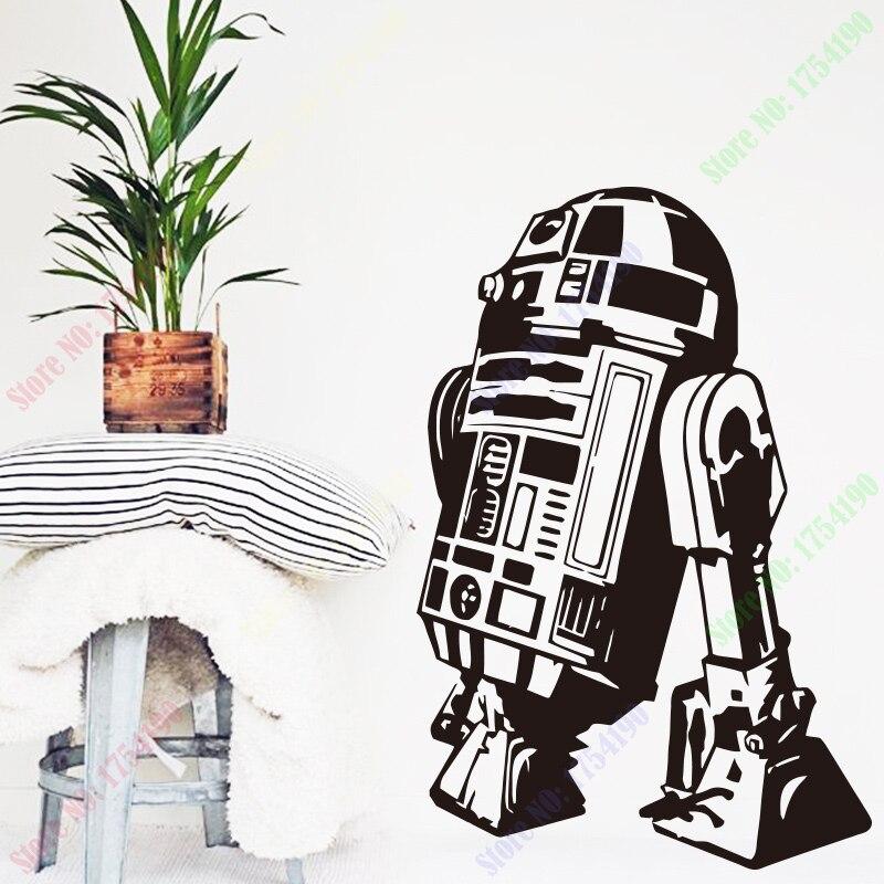 Книги по искусству Дизайн Звездные войны Робот стены Стикеры Цитата R2 D2 Наклейка виниловая Домашний Декор дети Geek Gamer Съемный Фреска Спальн... ...