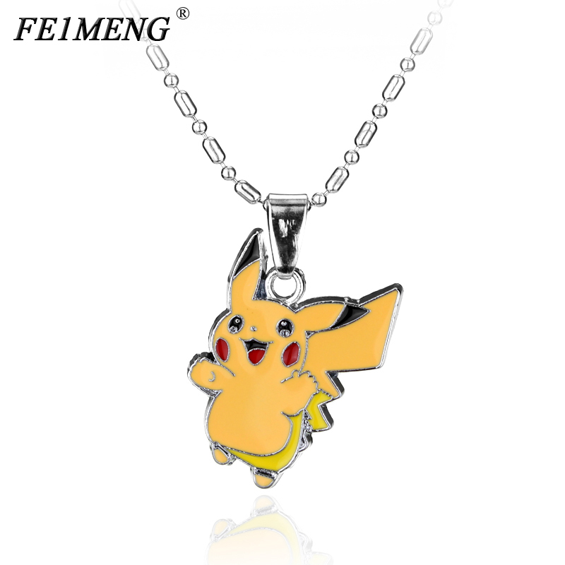 Classic Cute Pikachu Necklace Anime Pokemon GO 10 Styles Enamel Pocket Monster Choker Necklaces For Women Pendant Collar For Fan