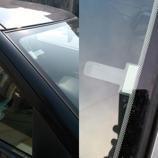 Car Vehicle Parking Ticket Permit Holder Clip Sticker Windscreen Window Fastener Stickers Kit Car Accessories