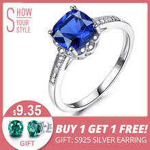 UMCHO Solid 925 Sterling Silver Ring Blue Sapphire Gemstone Rings For Women Tanzanite Birthstone Wedding Engagement Jewelry New