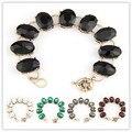 Moda 9 de vidro pulseiras pulseiras para mulheres