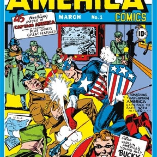 Mural – Captain America #1 Laminated Poster Print (42 x 62)