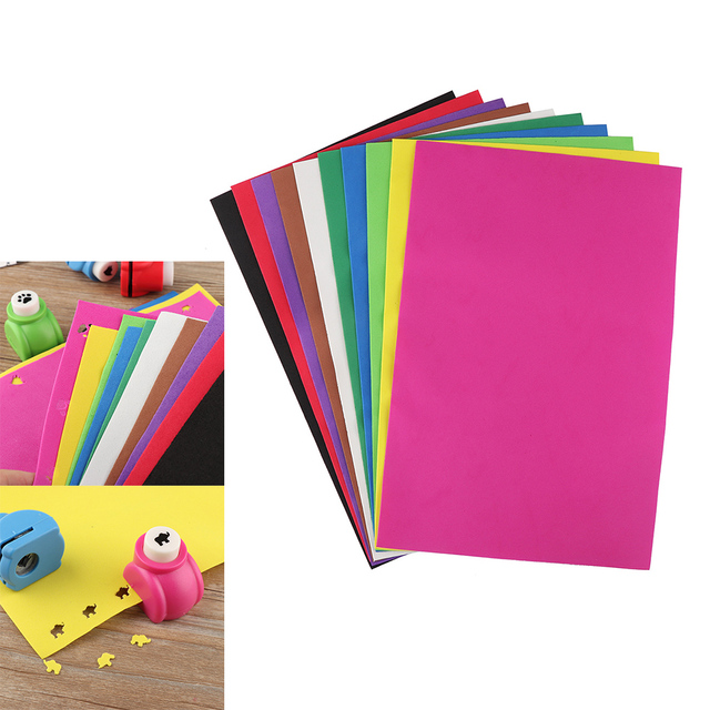10pcs New Useful Size A4 Diy Sponge Foam Paper Fold Scrapbooking