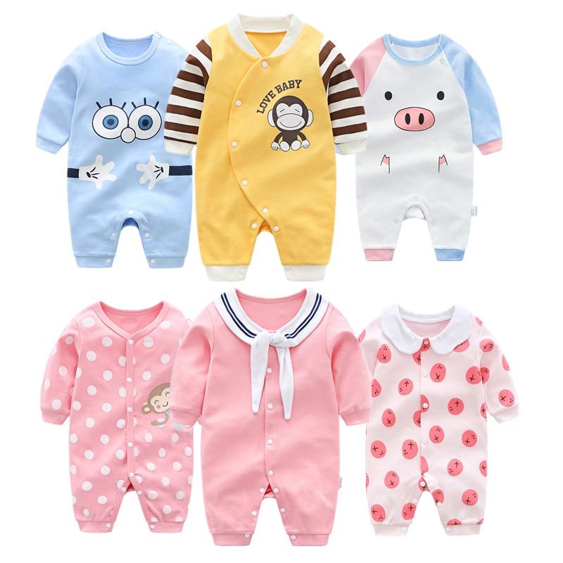 a164d13228 Body niemowlęce bawełniane z długim rękawem Baby Boy ubrania kreskówki  noworodka odzież Baby Girl ubrania jesień
