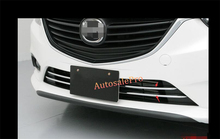 Chrome Front Grill Grille Bottom Cover Trim Decoration For Mazda Atenza / M6 2015 2013 2014