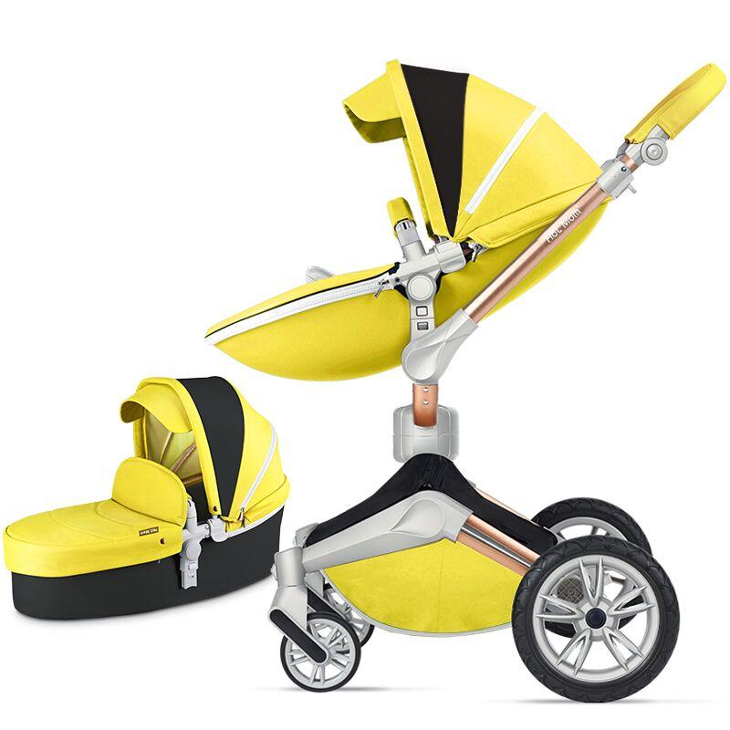 Hot mom 360 2018 stroller high landscape can sit or lie pneumatic wheel super shock absorption high grade atmospheric portable 3