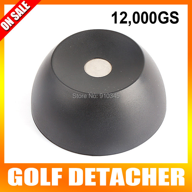 New Arrival Super Golf Detacher Security Tag Detacher EAS Tag Remover Magnetic Intensity 12000GS plastic Material Color Black
