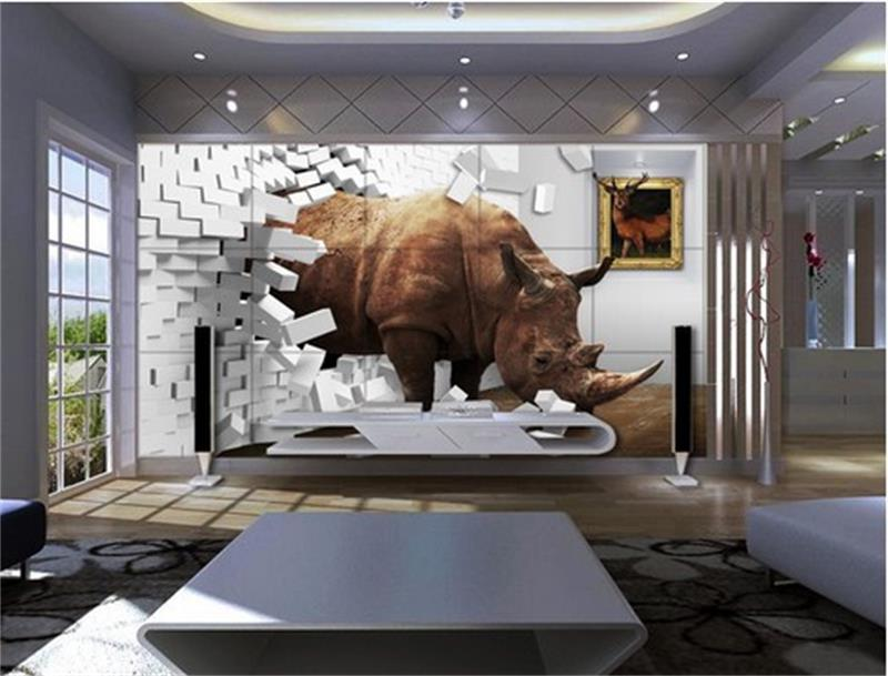 Compare prices on rhino wall online shopping buy low for Custom mural cost