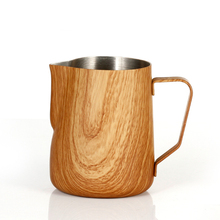 300/600ml Coffee Milk Jug Graining Stainless Steel Frothing Pitcher Pull Flower Cup Espresso Frothers Mug Coffee Barista Tools