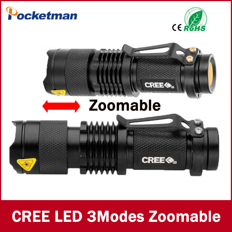 Mini LED Flashlight ZOOM 7W 2000LM Waterproof Lanterna LED <font><b>3</b></font> Modes Zoomable Flashlight Linterna led Torch AA 14500 battery image