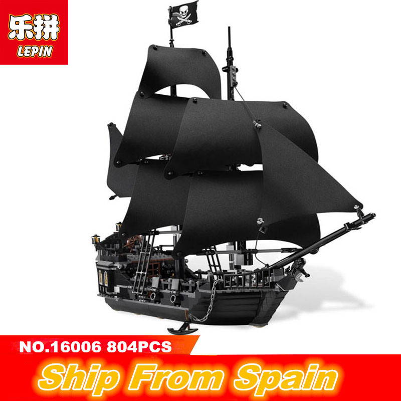 Lepin Building Blocks 16006 16009 22001 Movie series pirates of the caribbean black pearl ship Legoing technic 4184 toys Blocks ...