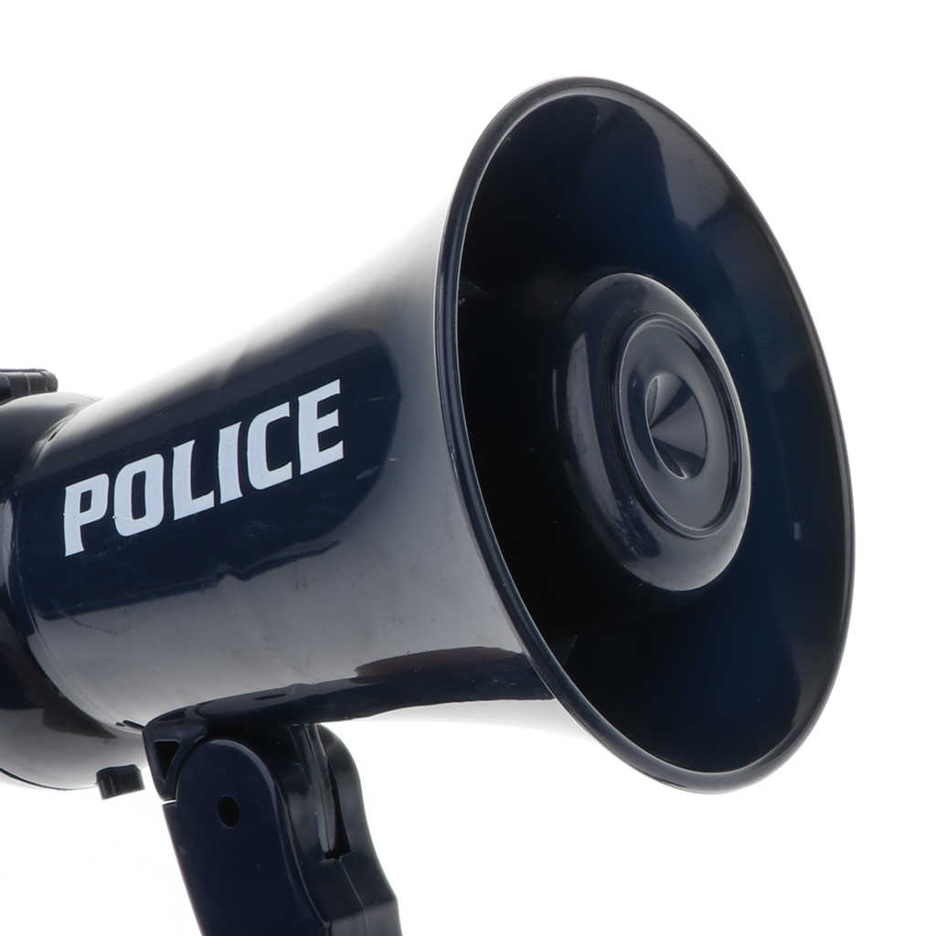 Mégaphone de policier pour enfants avec son pour les enfants semblant jouer à des jouets de jeu