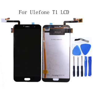 Image 1 - For Ulefone T1 LCD display touch screen digitizer for Ulefone T1 mobile phone accessories replacement screen LCD display