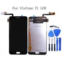 Para ulefone t1 display lcd digitador da tela de toque para ulefone t1 acessórios do telefone móvel substituição tela lcd