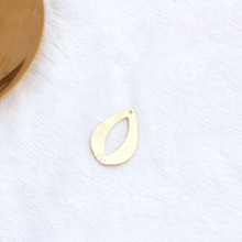 10PCS 18x25MM 24K Gold Color Plated Brass Hollow Drop Shaped Charm Pendant for DIY Jewelry Making Findings Accessories