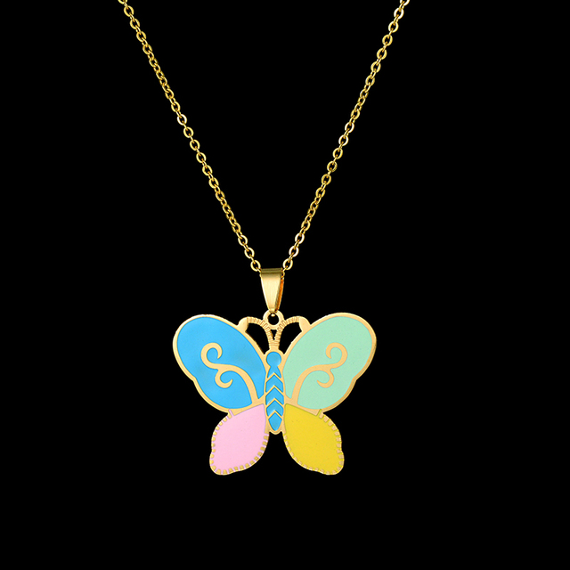 Fashion Kids Jewelry Set Gold Color Chain 4