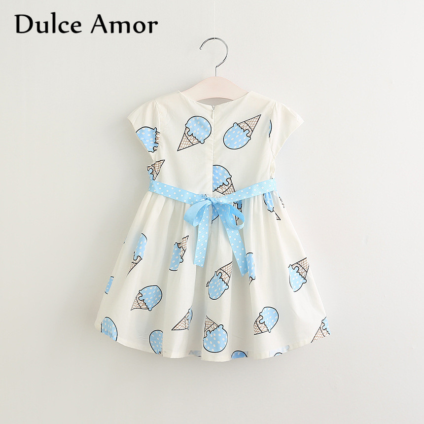 HTB1KJO.SXXXXXXxXXXXq6xXFXXXn - Dulce Amor Summer Cute Girls Dress Kids Baby Girls Clothes Short Sleeve Ice Cream Print Princess Dress Kids Dress For Girl