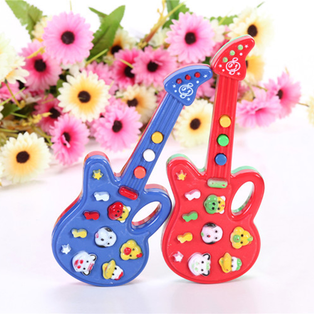 1 Piece Musical Educational Toy Baby Kids Children Portable Guitar Keyboard Developmental Cute Toy Developmental Music Toy