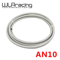 WLR RACING 5M AN 10 (9/16 14.3MM) Racing PTFE Stainless Steel Braided Teflon Hose Fuel Oil Line WLR7514