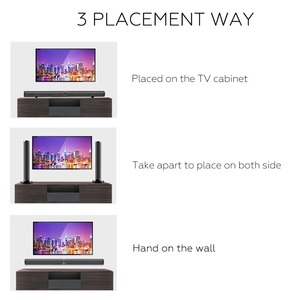 Image 5 - TV Soundbar Bluetooth Speaker Wireless Stylish Fabric Sound Bar Hifi 3D Stereo Surround Support RCA AUX HDMI For Home Theater