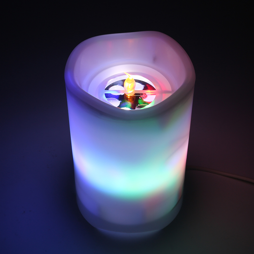 BL - TY05X 2-In-1 Night Light With Candle / Star Projection Function 1PC USB Charging LED Night Light WIith Remote Control