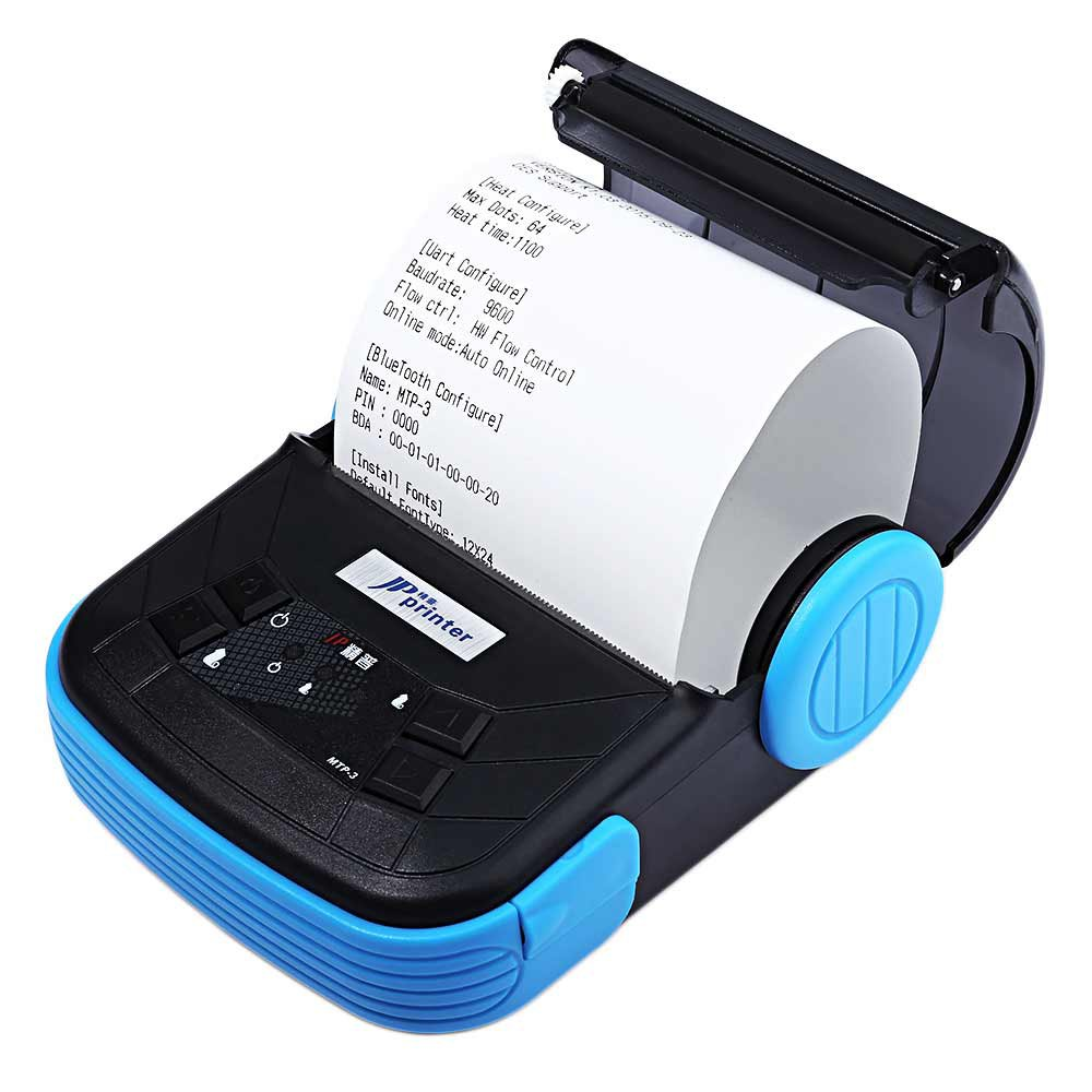 ФОТО Exquisite Lightweight Design EU Plug Printer JP MTP-3 Portable 80mm Bluetooth 2.0 Android Thermal POS Printer with OLED Display